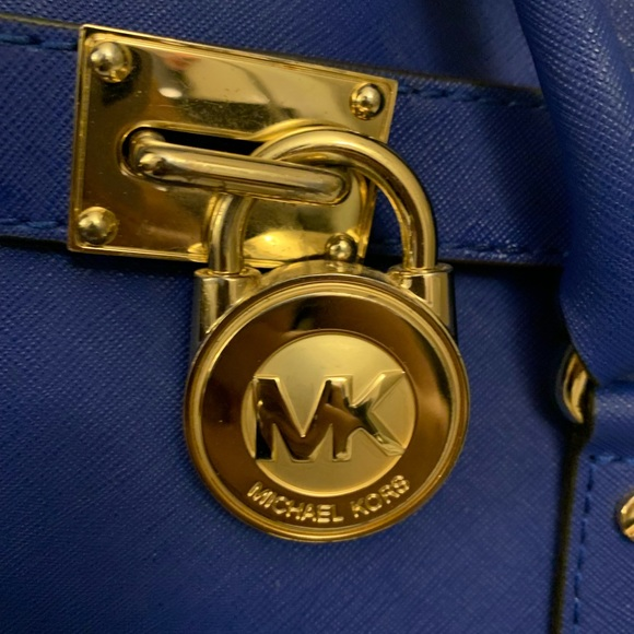 Michael Kors Handbags - Michael kors Cobalt blue Hamilton Medium bag